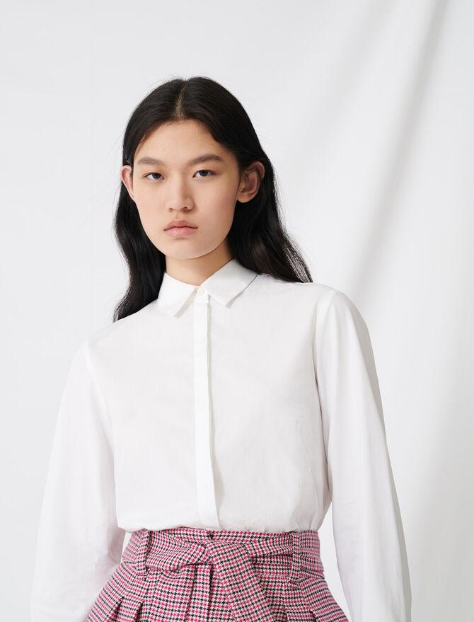 Chemise blanche en popeline - Pap_Tops-Chemises - MAJE