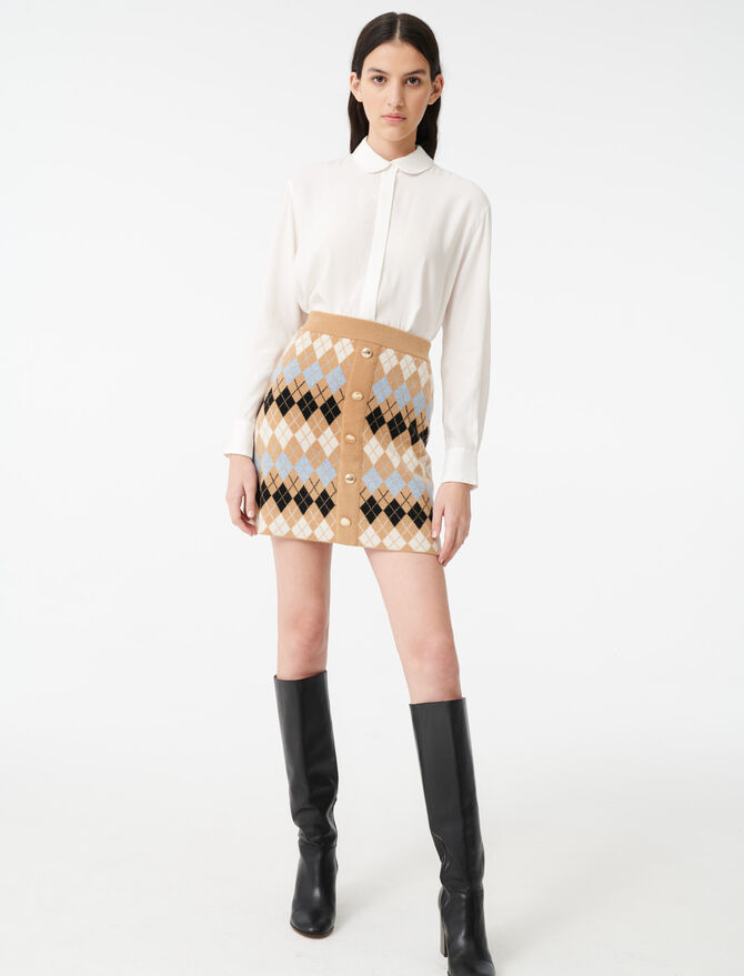 Loose shirt with a Peter Pan collar -  - MAJE