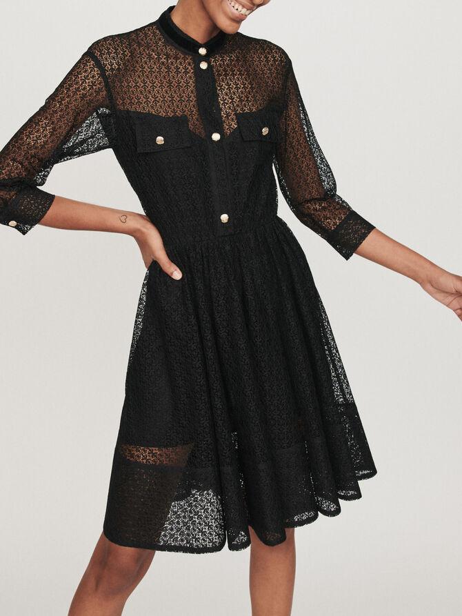 Guipure skater dress - Dresses - MAJE