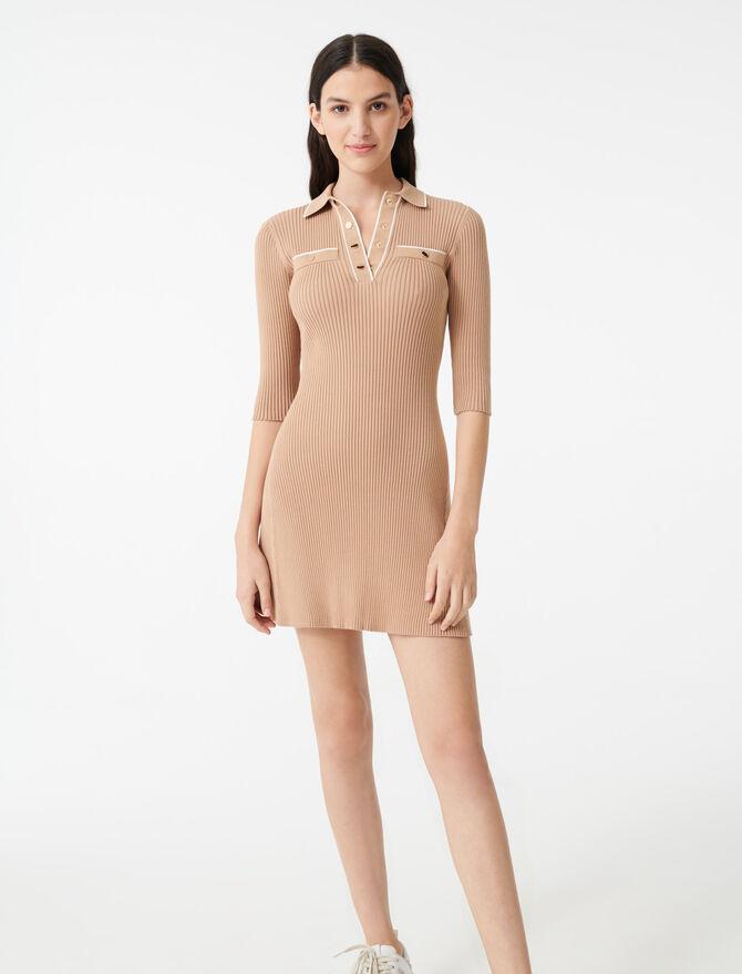 Knit polo dress -  - MAJE