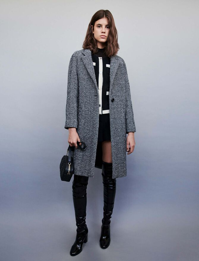 Chevron coat -  - MAJE