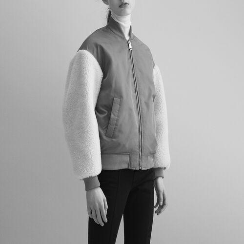 Sheepskin jacket : Jackets & Blazers color Caramel