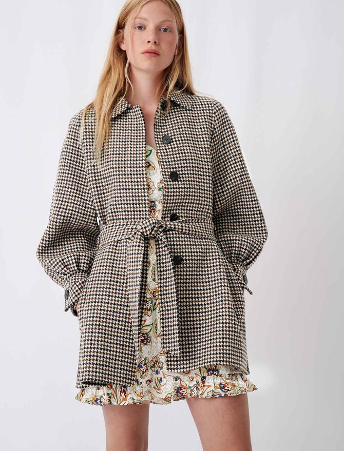 Checked double face coat - New collection - MAJE
