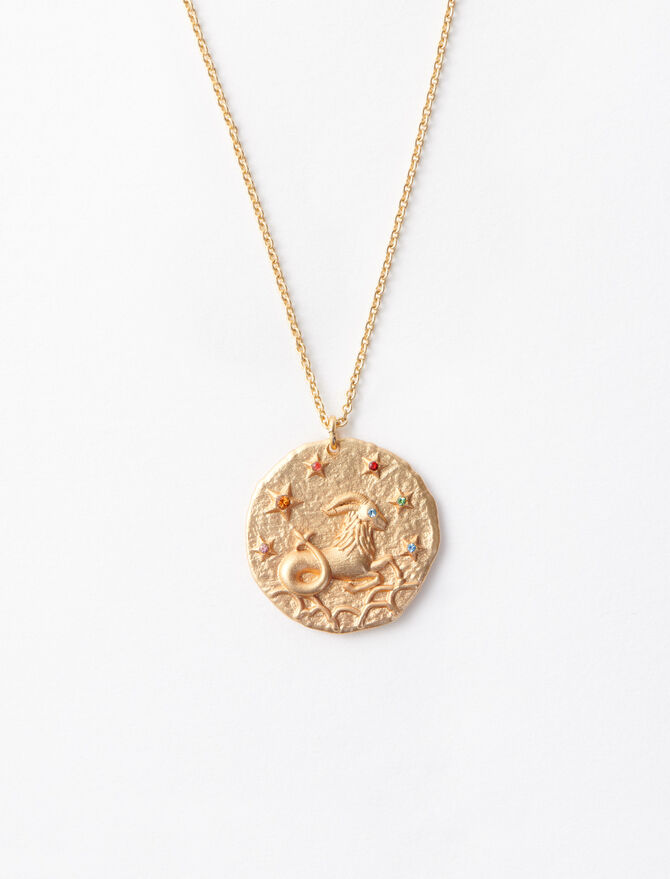 Capricorn zodiac sign necklace -  - MAJE