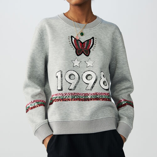 Sweatshirt 1998 with embroidery : T-Shirts color Grey