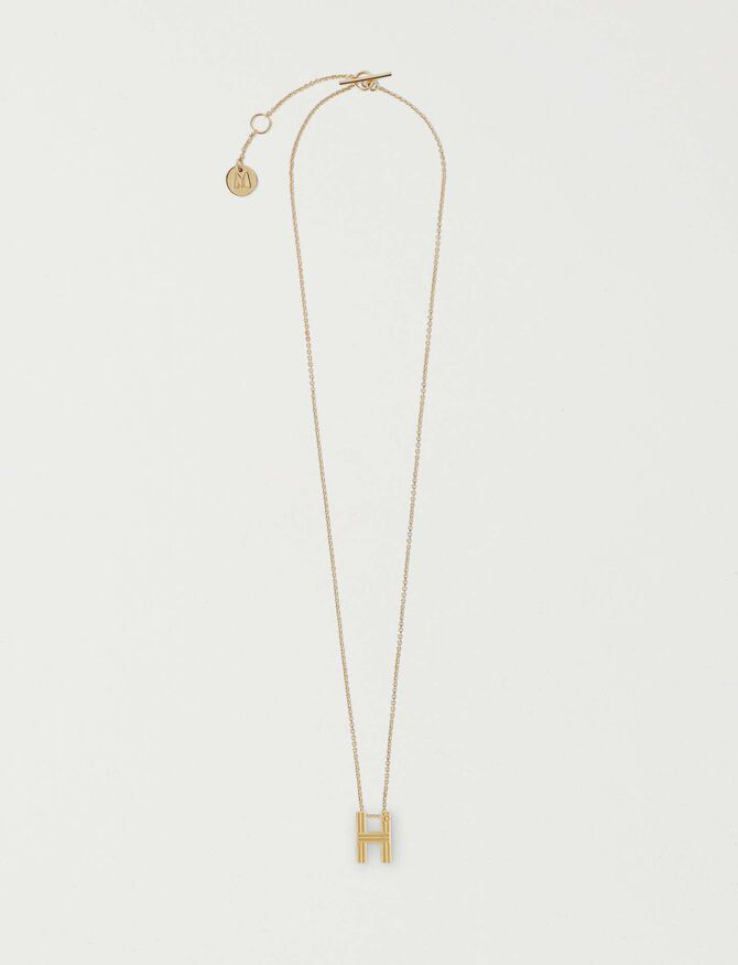 Necklace with initial pendant - LastchanceDE-Accessoires - MAJE
