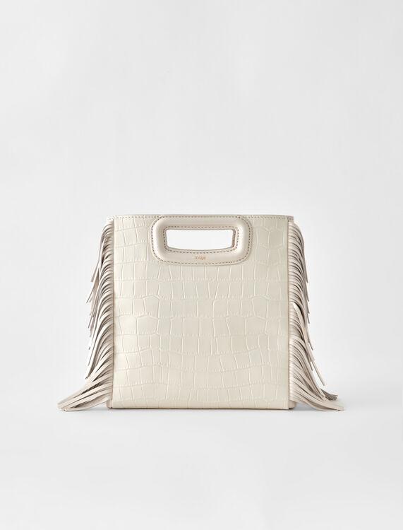 Crocodile embossed-leather M bag - M bags - MAJE