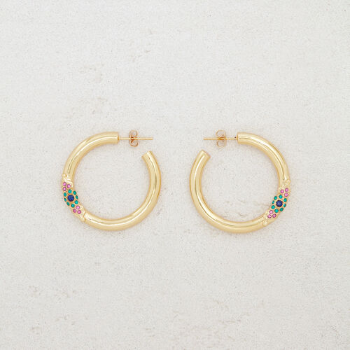 "Hoop earrings ""Eye"" : Jewelry color GOLD"