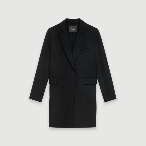 Double face cropped coat : Coats & Jackets color Black