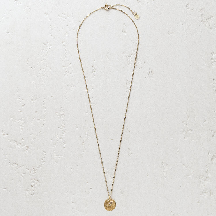 """Necklace with medallion """"Ma poule"""" : Jewelry color GOLD"""