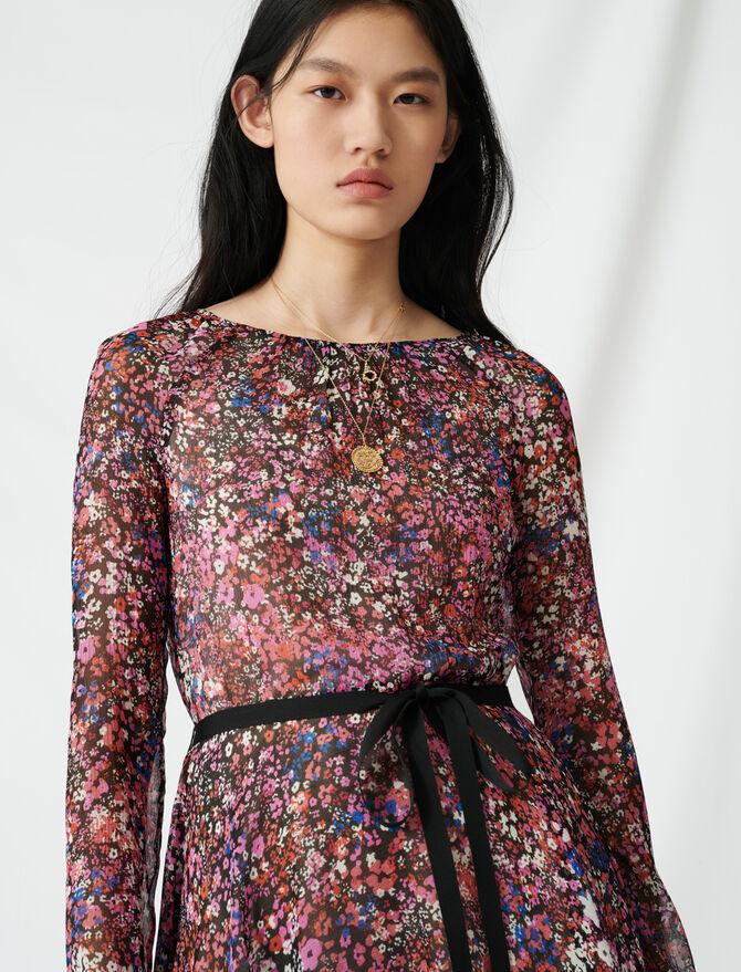 Belted floral dress -  - MAJE