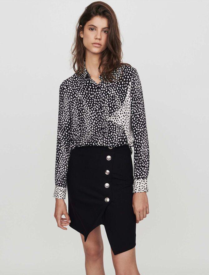 Patched jacquard-printed shirt -  - MAJE