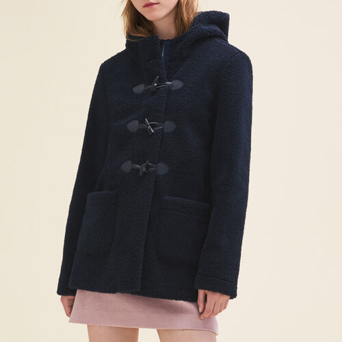 Faux fur duffle coat : See all color Navy