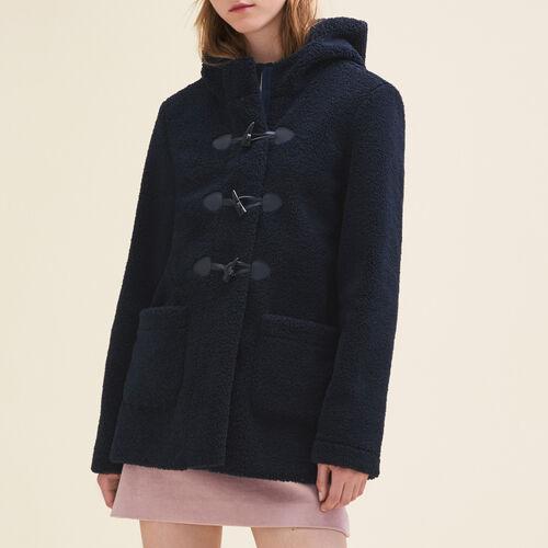 Faux fur duffle coat : Coats color Navy