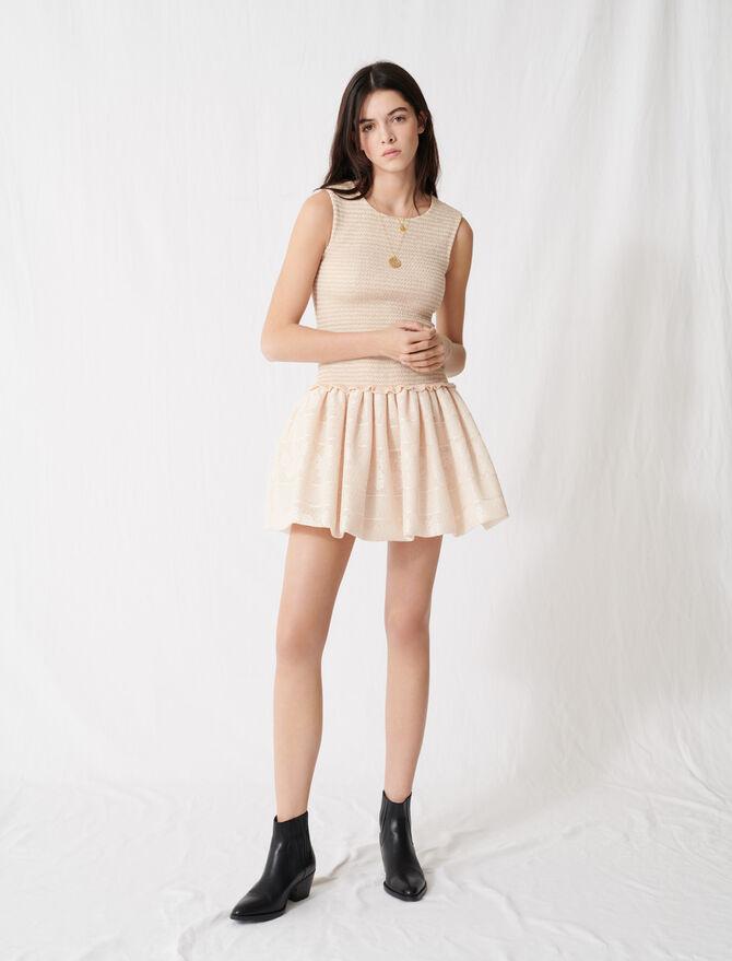Smocked knit skater dress - Dresses - MAJE