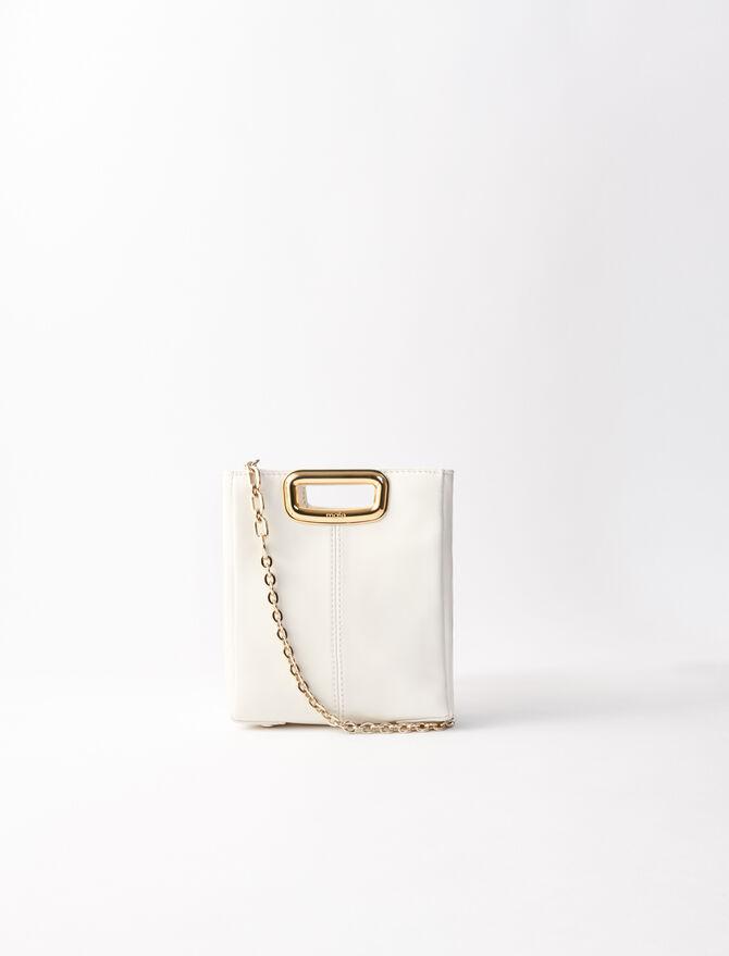 Sac M Mini Skin en cuir et métal doré - Sacs_Mmini - MAJE