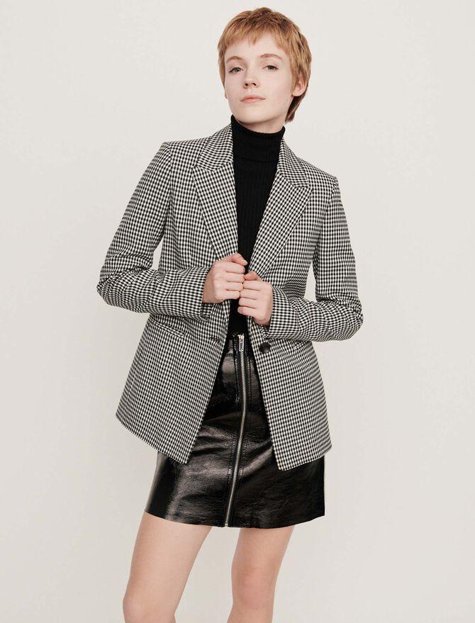 Belted houndstooth jacket - Blazers - MAJE