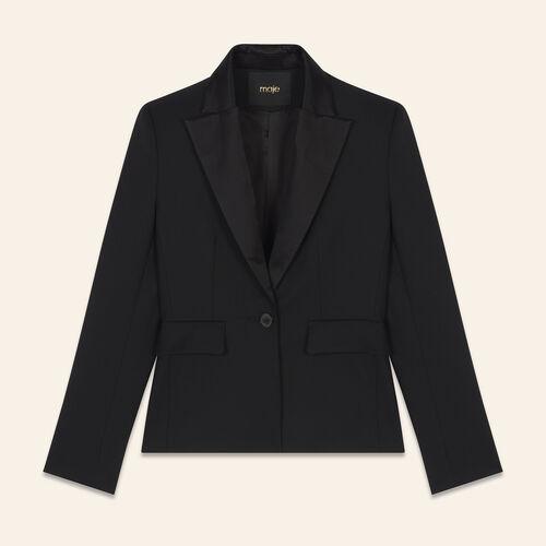 Wool blend tailored jacket : Blazers color Black 210
