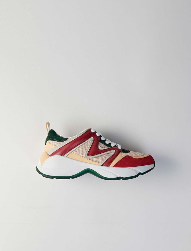 W22 mixed material sneakers - SoldesFR_Accessoires - MAJE