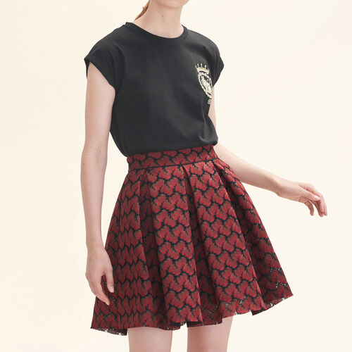 Bonded lace skater skirt : Skirts & Shorts color PRINTED