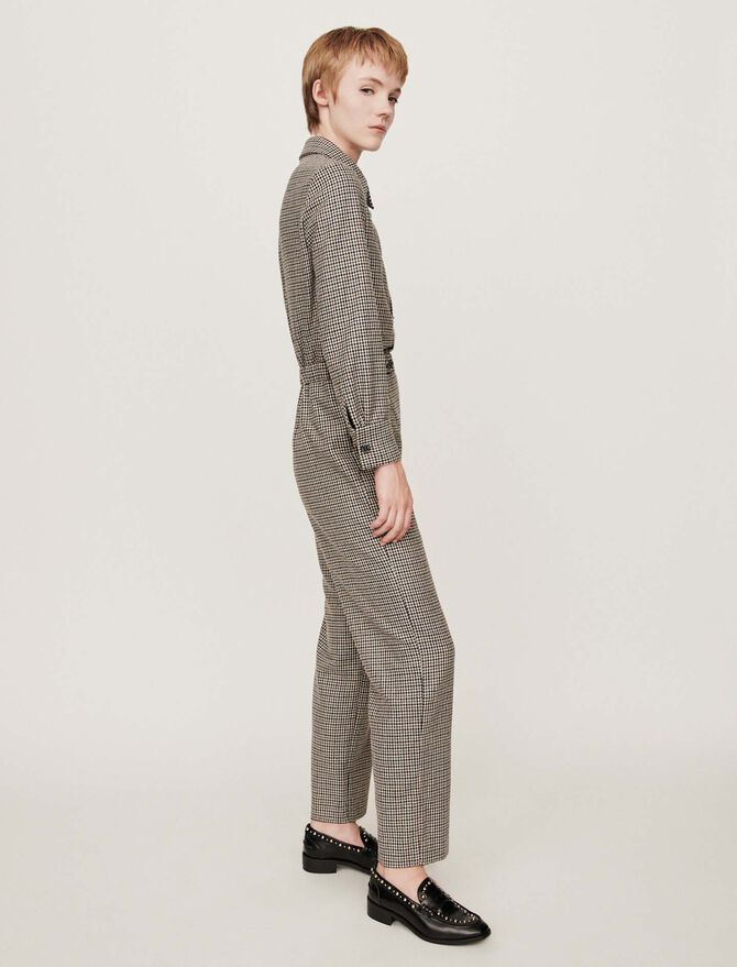 Checkered jumpsuit - Trousers & Jeans - MAJE