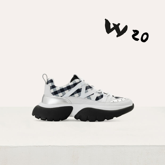 W20 urban sneakers in leather and vichy : Sneakers color Black 210