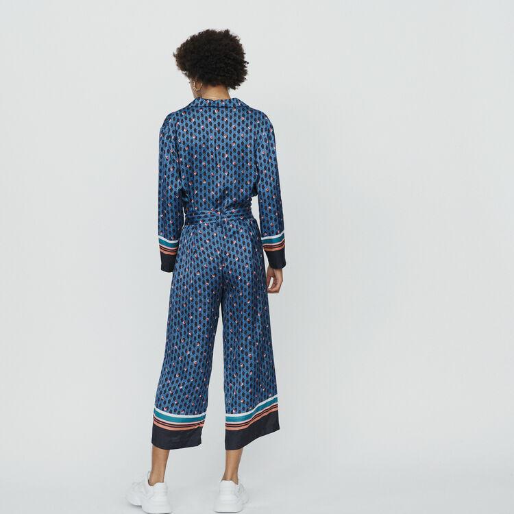 Monogram printed trouser suit : Trousers color PRINTED