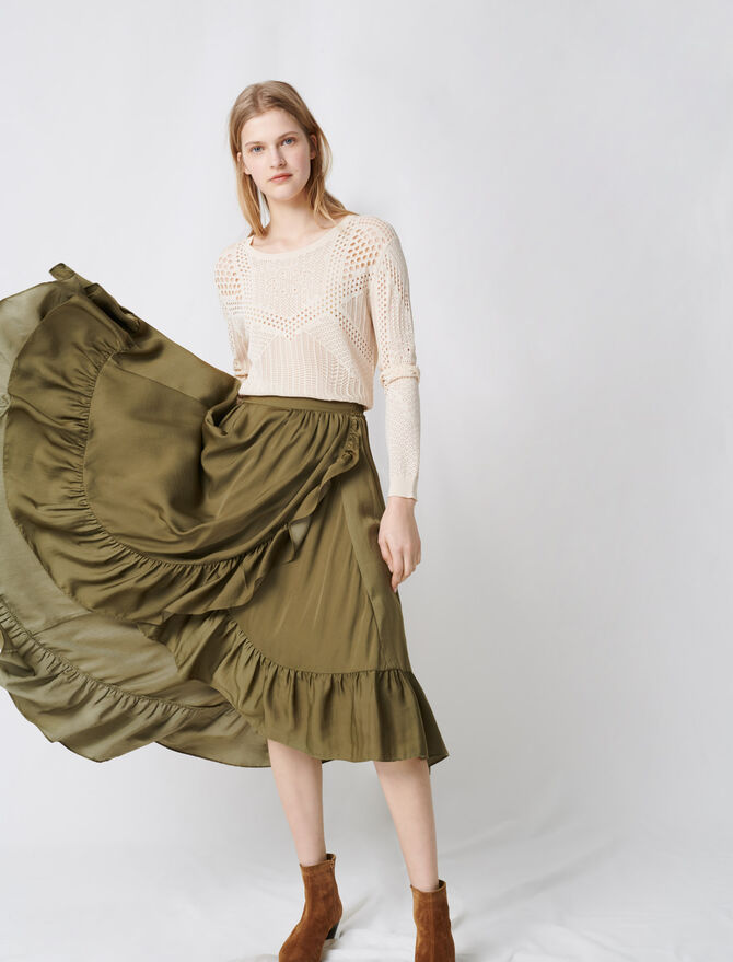 Ruffled boho skirt - Skirts & Shorts - MAJE