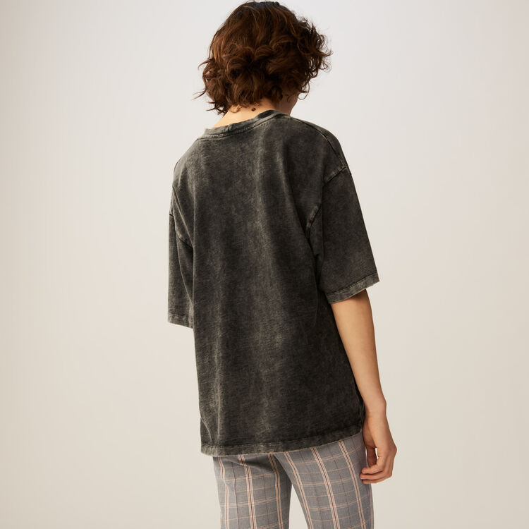 Oversized t-shirt : T-Shirts color Grey