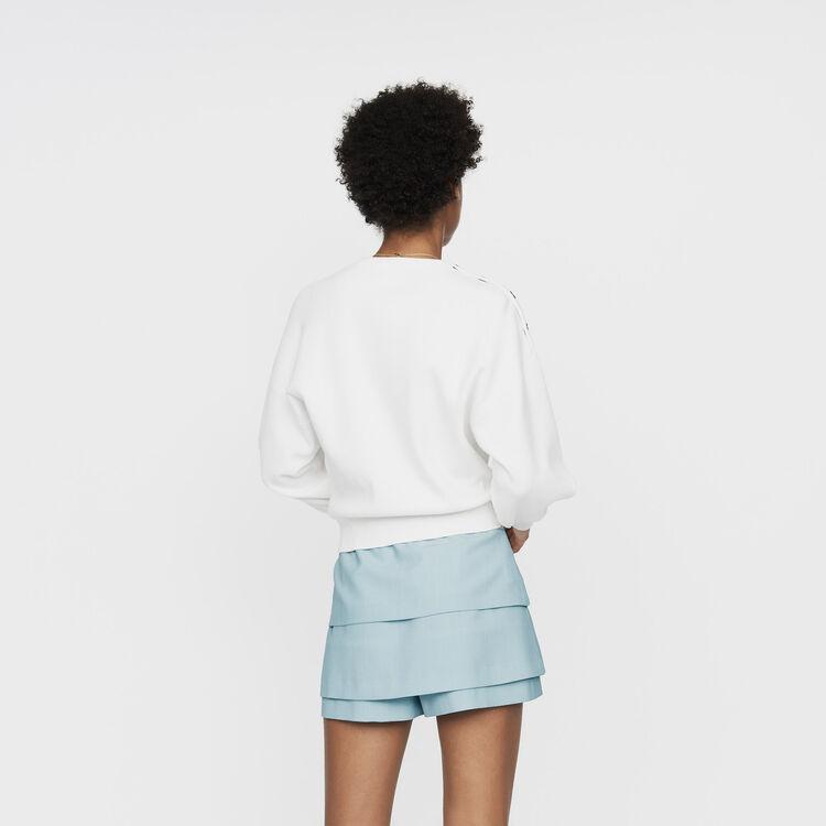 Shoulder-button sweater : Knitwear color ECRU