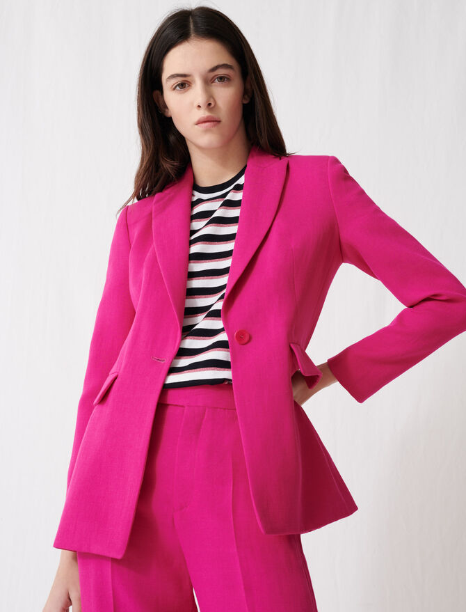 Fuchsia tailored jacket - Blazers - MAJE