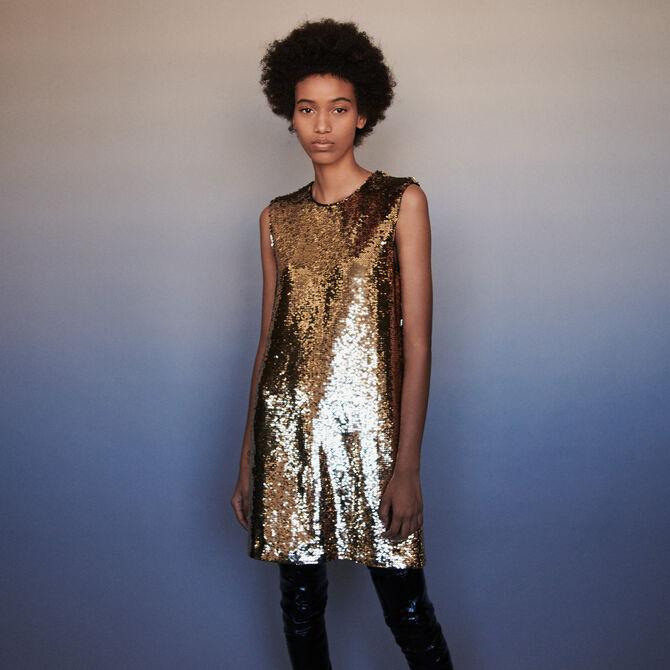 Sequin pencil dress -  - MAJE