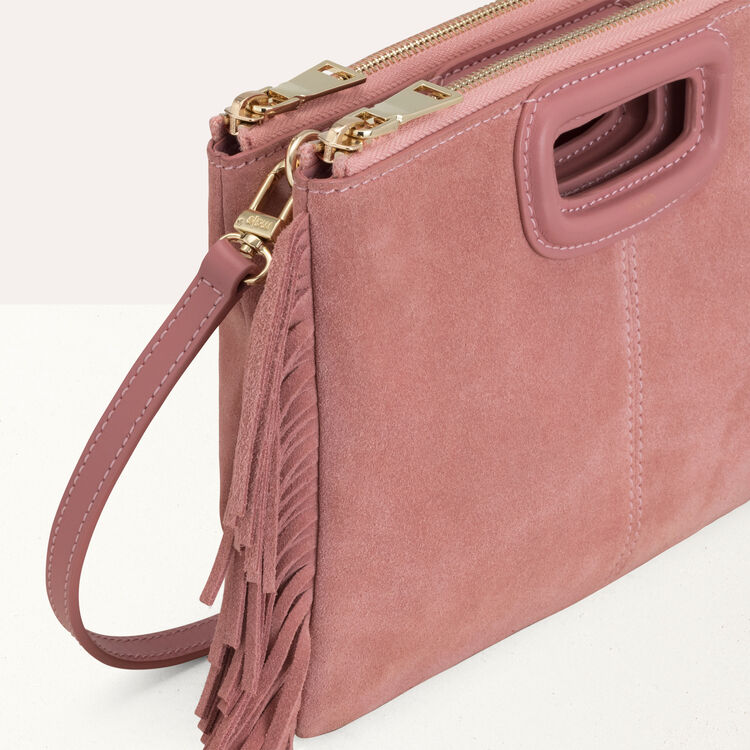 Suede duo bag : M Duo color Pink