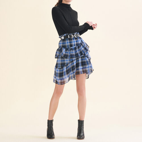 Frilled checked skirt : Skirts & Shorts color PRINTED