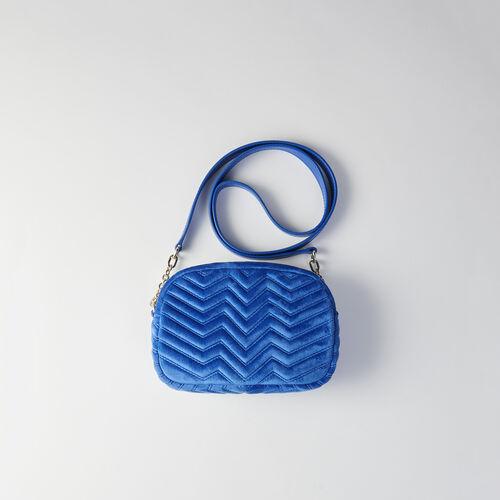 Quilted velvet shoulder bag : Sami bag color ROUGE