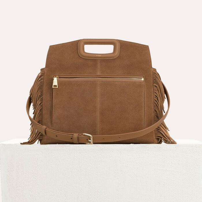 MWALK bag with leather fringe : M Walk color Camel