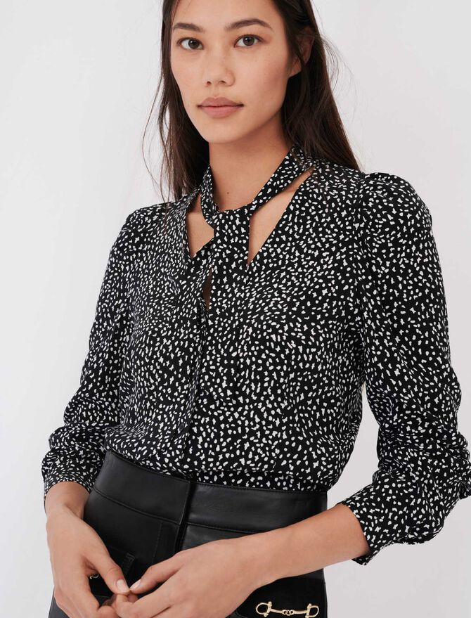 Crafted from crêpe printed shirt - New collection - MAJE