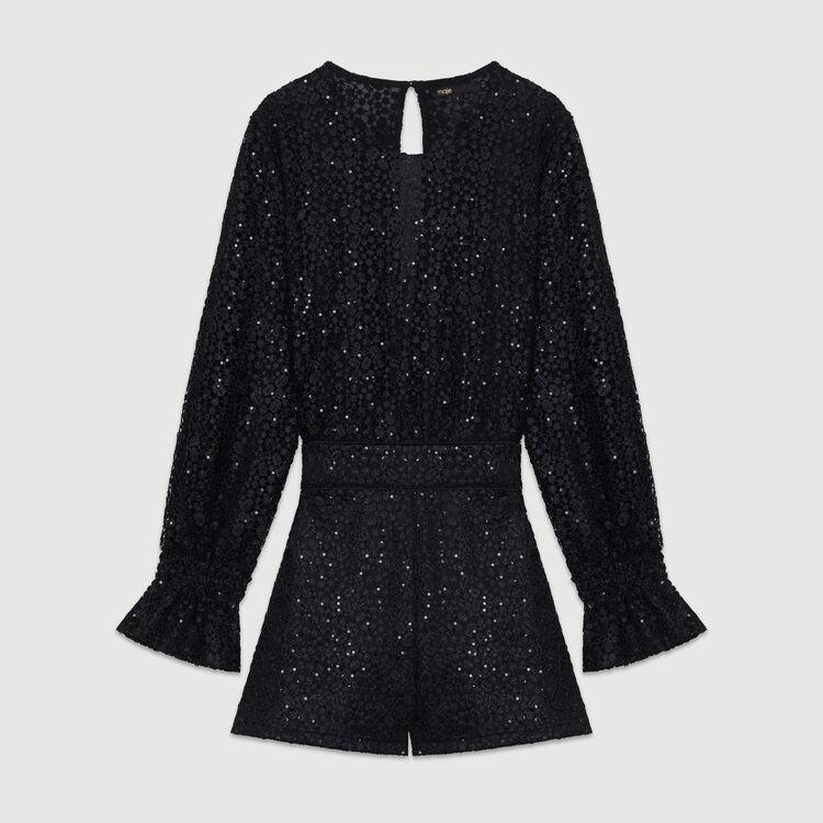 Lace romper : Skirts & Shorts color Black 210