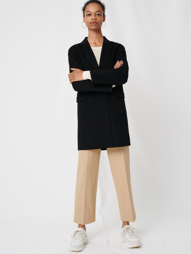 Double sided wool coat - Coats & Jackets - MAJE
