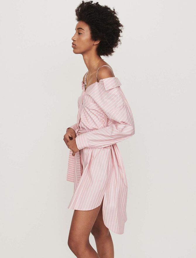 Oversized striped shirt dress - Dresses - MAJE