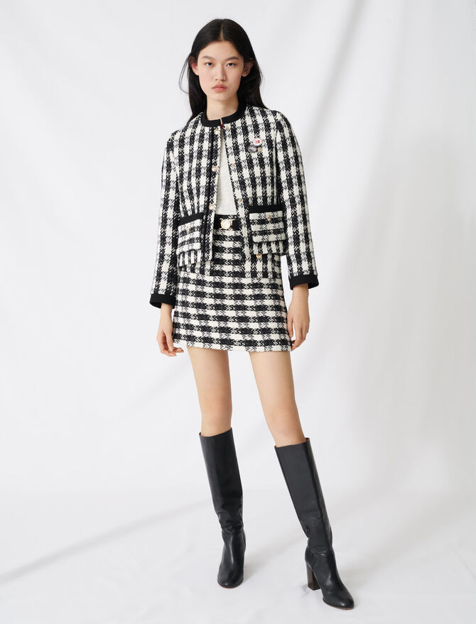 Tweed-style cropped jacket -  - MAJE