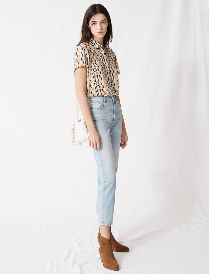 "Jean taille haute ""mom"" - Pap_Pantalons-Jeans - MAJE"