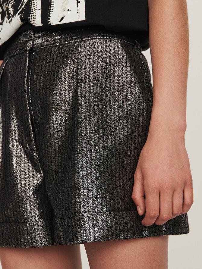 Cuffed shorts in Lurex - Skirts & Shorts - MAJE