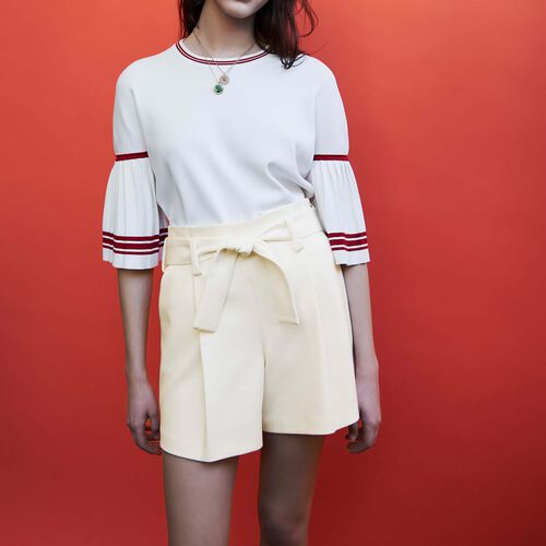 High waisted short : Skirts & Shorts color White