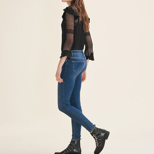 Faded slim jeans : Jeans color Blue