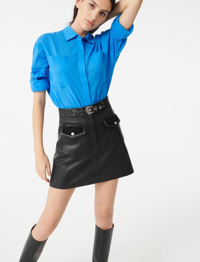 Leather Western skirt - Skirts & Shorts - MAJE