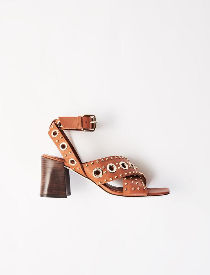 Heeled studded sandals - Sandals - MAJE