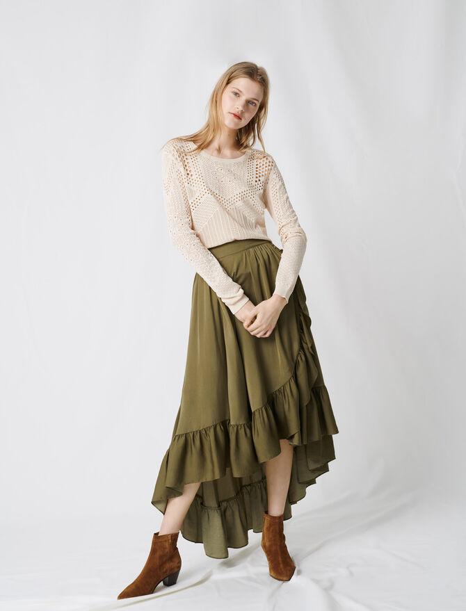 Ruffled boho skirt - Skirts & Shorts - MAJE