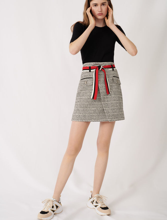 Tweed-style wrap skirt - Skirts & Shorts - MAJE