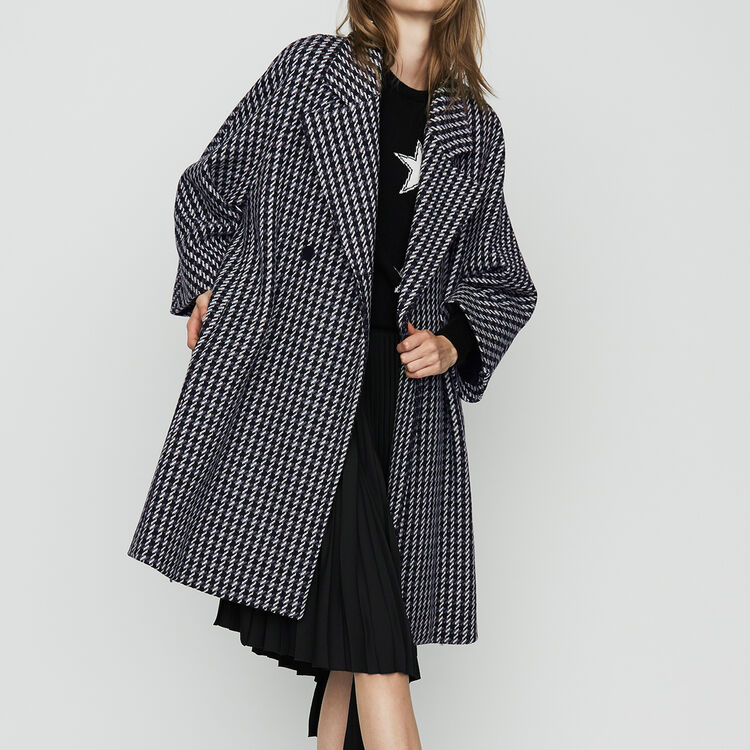 Oversize coat with double button closure : Coats color Jacquard